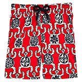 Vilebrequin Primitive Turtles Superflex Superflex Swim Shorts - Boys - poppy red - 6Yrs
