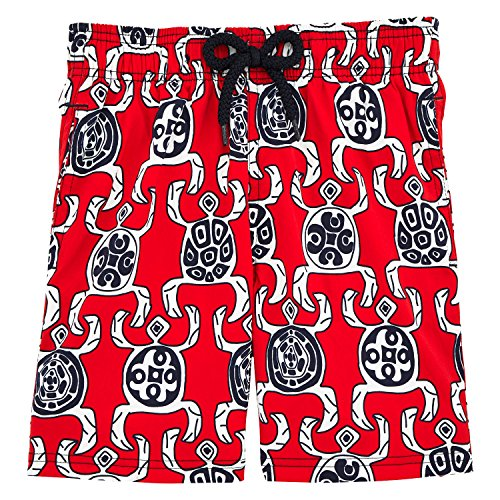Vilebrequin Primitive Turtles Superflex Superflex Swim Shorts - Boys - Poppy Red - 2Yrs by Vilebrequin