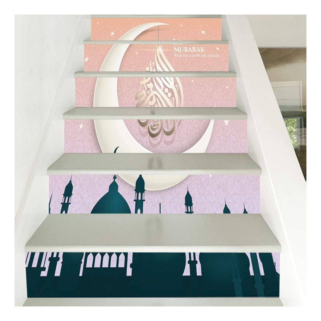 SERFGTFH Escaleras Pegatinas Decorativas En Casa 3D Tatuajes De ...