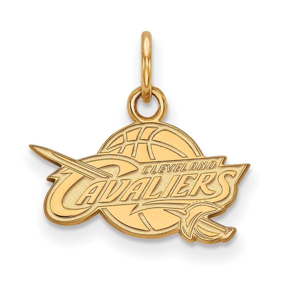 NBA Cleveland Cavs Xsmall Logo Pendant in 14K Yellow Gold