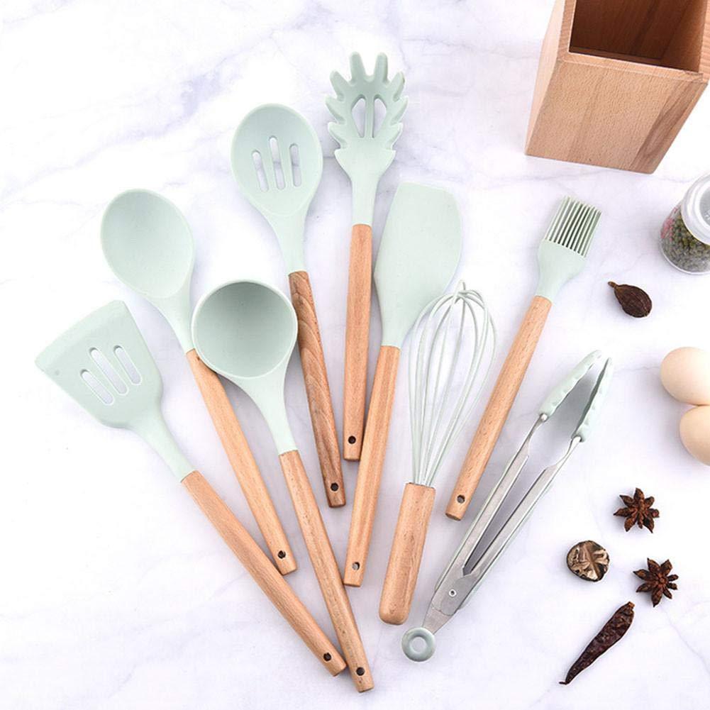 kapokilly Utensilios de Cocina 9 Piezas Conjuntos de Cocina de Acero Silicona Herramientas de Cocina Cuchara Son Los Mejores para Utensilios de Cocina Antiadherentes