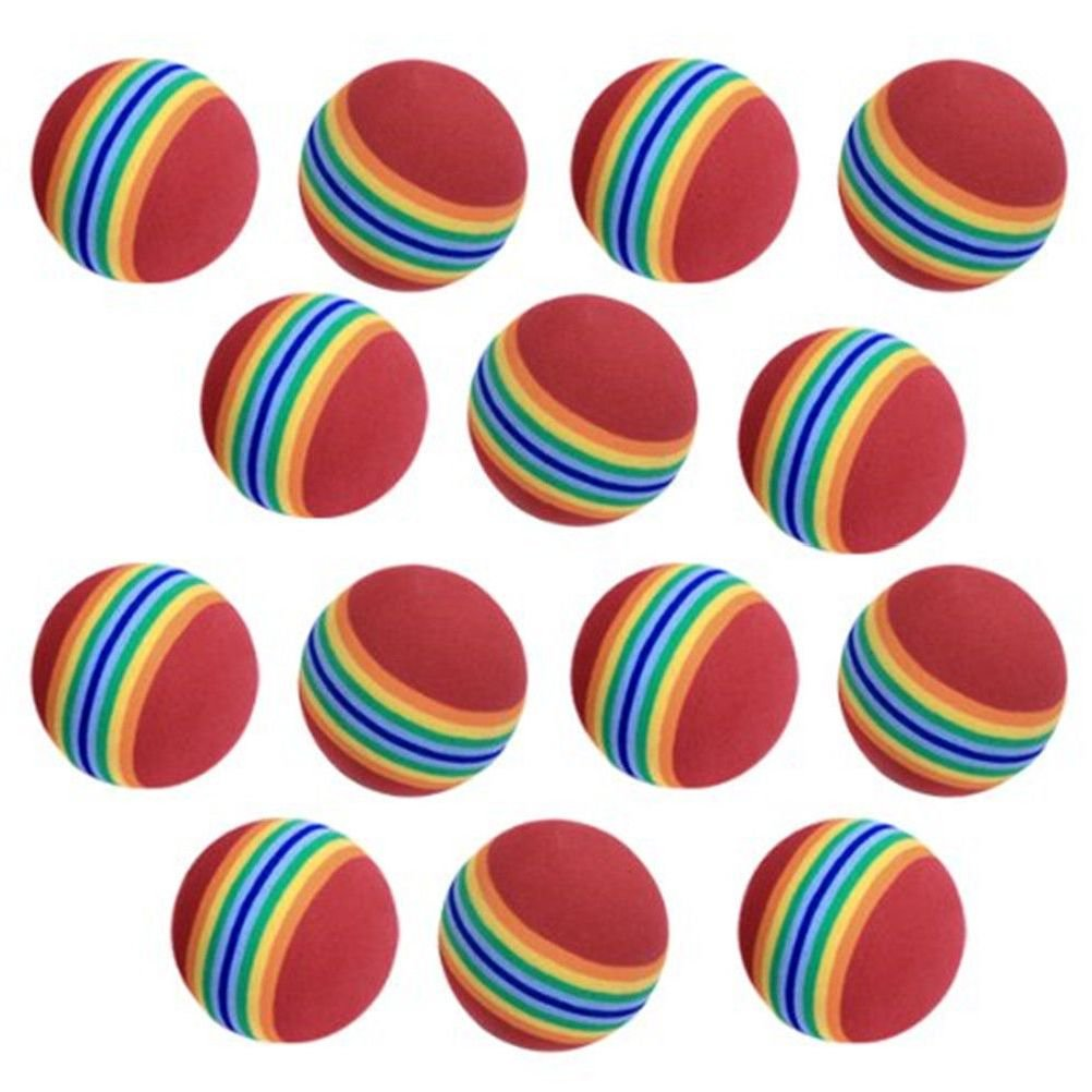 Ovedcray home series 20pcs Foam Sponge Golf Training Soft Balls Elastic Indoor Practice Rainbow