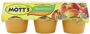 Mott's, Mango Peach Applesauce Blend, 6 - 4oz Cups, 24oz Package (Pack of 4)