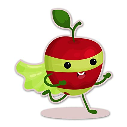 Amazon.com: Ninja Pickle Super Fruit Apple Decal for Your ...