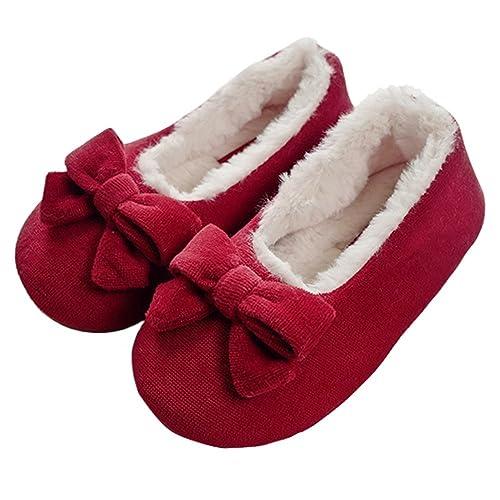 Girls\' Classic Princess Style Velvet Memory Foam House Slippers