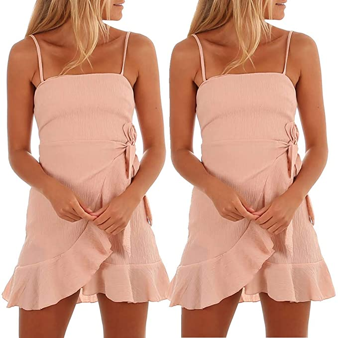 Helpful Sexy Deep V Women Solid Color Formal Sling Dress Sexy Lady Backless Dresses Summer Fashion Clothes Big Clearance Sale Women's Clothing