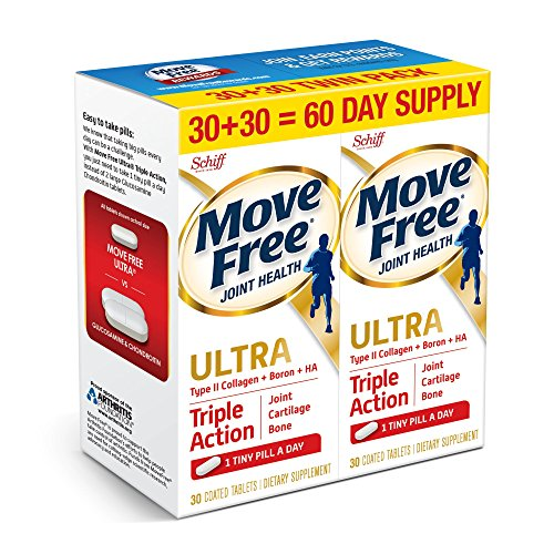 Move Free Ultra Triple Action, 60ct (2x30ct Twin Pack) – Joint Health Supplement with Type II Collagen, Boron and HA Review