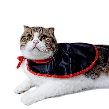 PETCUTE Disfraz de Halloween para Gatos y Perros, Disfraces de Disfraces de Mascotas, Accesorios del Festival de Halloween,Capa de Gato: Amazon.es: Hogar