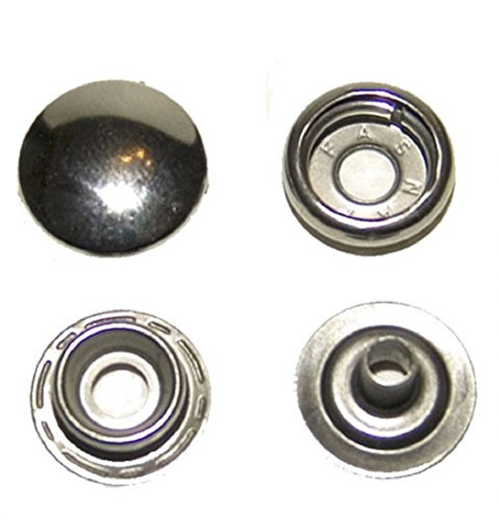 Stainless Steel Snaps, 200 Piece by