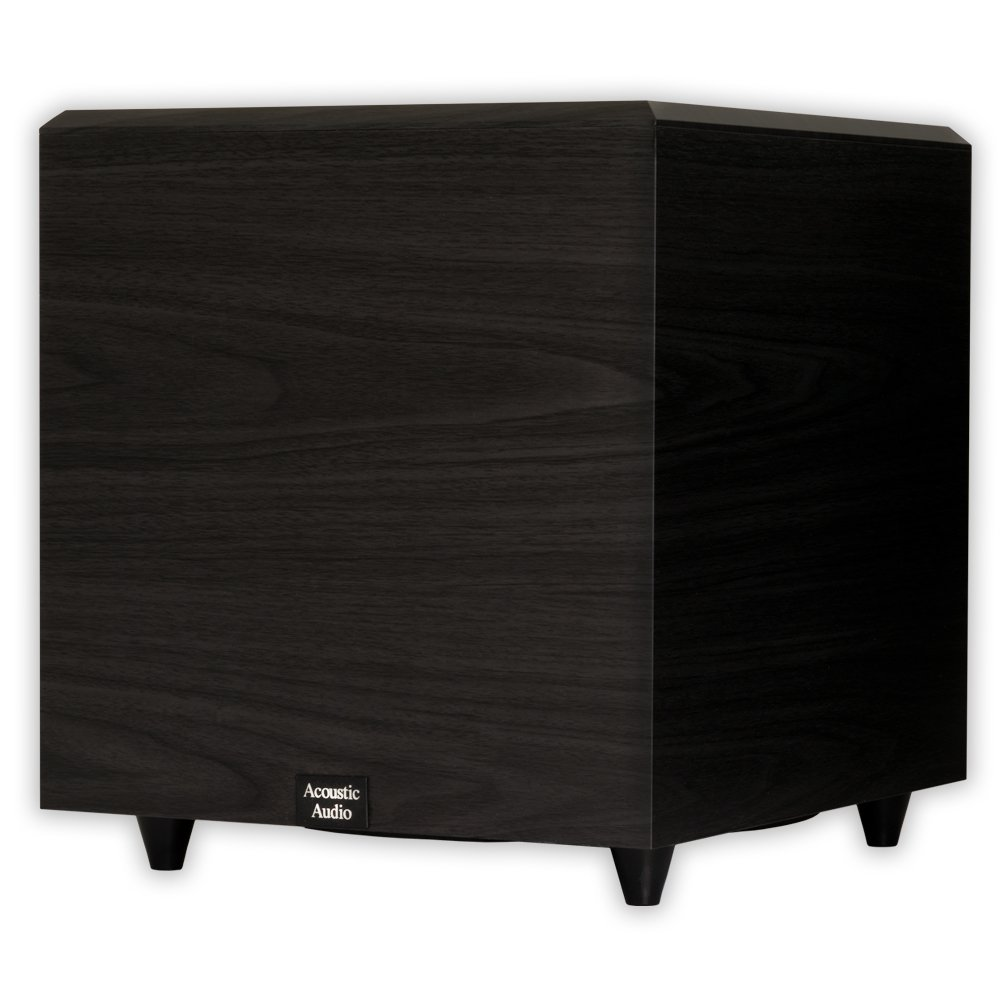 Acoustic Audio PSW12 Home Theater Powered 12'' Subwoofer Black Down Firing Sub by Acoustic Audio by Goldwood