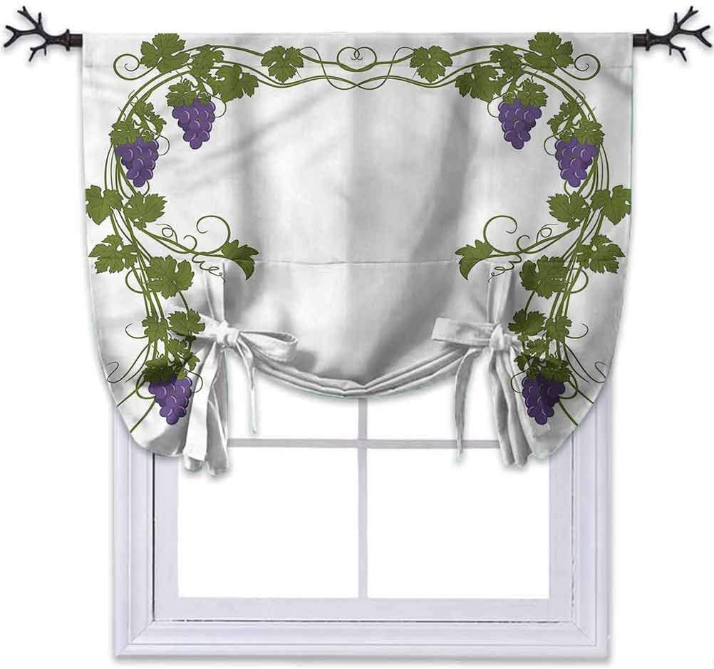 Aishare Store Blackout Roman Shades Curtains Vine Wedding Inspired Green Gate W46 x L45 Inches Energy Efficient Roman Shades for Window Home Decoration