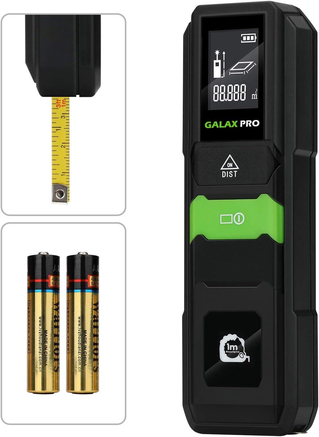 Telémetro láser 40m, GALAX PRO Medidor Láser, Precisión ±2 mm, LCD Retroiluminación, Medición de distancia, Área,Batería Incluida/MKL-C02
