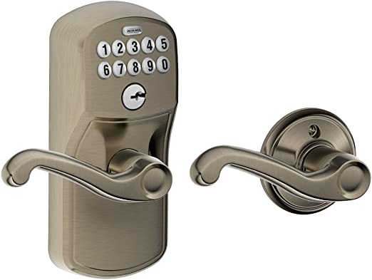 Schlage FE575 CAM Camelot Keypad Entry with Auto-Lock and Accent Levers