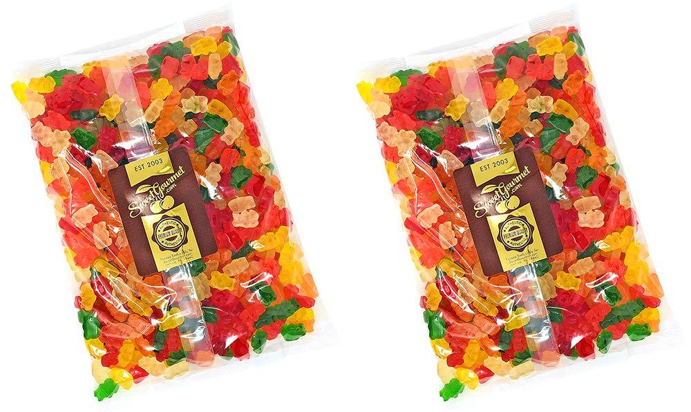 SweetGourmet Assorted Sugar Free Gummi Bears   Albanese Bulk Candy Gummy   Strawberry, Apple, Orange, Pineapple, Lemon, Cherry   Fat Free, Gluten Free, Dairy Free, MSG Free   10 Pounds