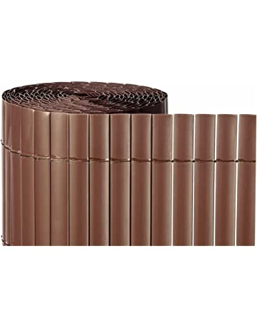 Jardin202 - CAÑIZO PVC Simple Cara Marron Chocolate 900gr/metro Cuadrado