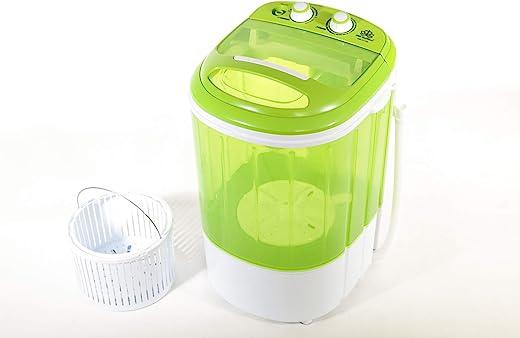 DMR Inverter 2.5 kg Portable Semi Automatic Top-Loading Mini Washing Machine with Dryer Basket (DMR 25-1208, Green)