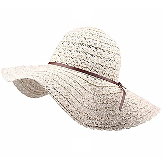 Women Summer Wide Brim Fedora Sun Hats Ladies Foldable Floppy Travel Packable  Beach Hat UV Protection 14af605f714