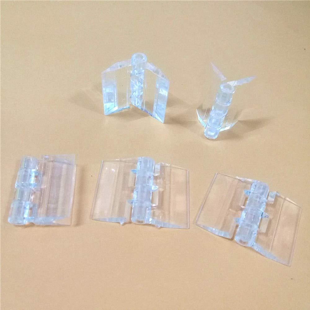 Display Stand,Aquarium Supplies etc. 5-Pack Transparent Plastic Acrylic 30mm Continuous Piano Hinge 1.18 for DIY Transparent Box