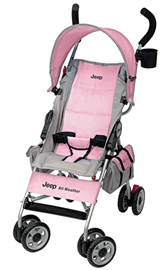 Amazon.com : Jeep All-Weather Reclining Umbrella Stroller, Pink ...