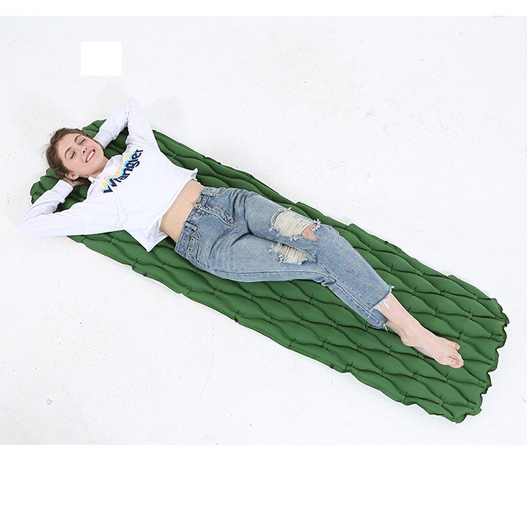 屋外ポータブルインフレータブルマットキャンプピクニックビーチマットテント睡眠パッド、エアーポンプではない (Color : Green) B07FBJMJJL  Green