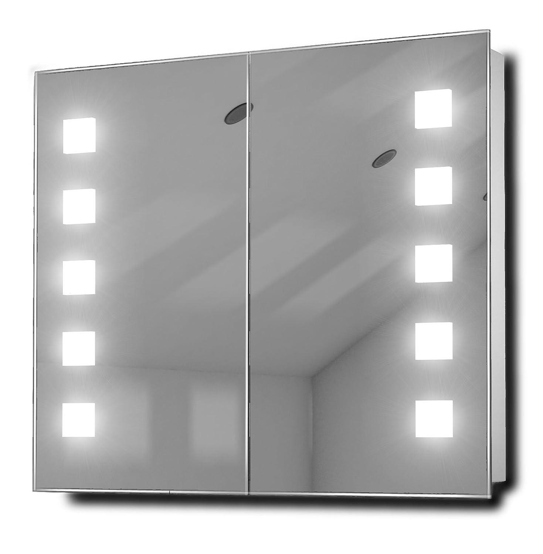 armoire de toilette lumineux fluorescent antibuà e capteur rasoir