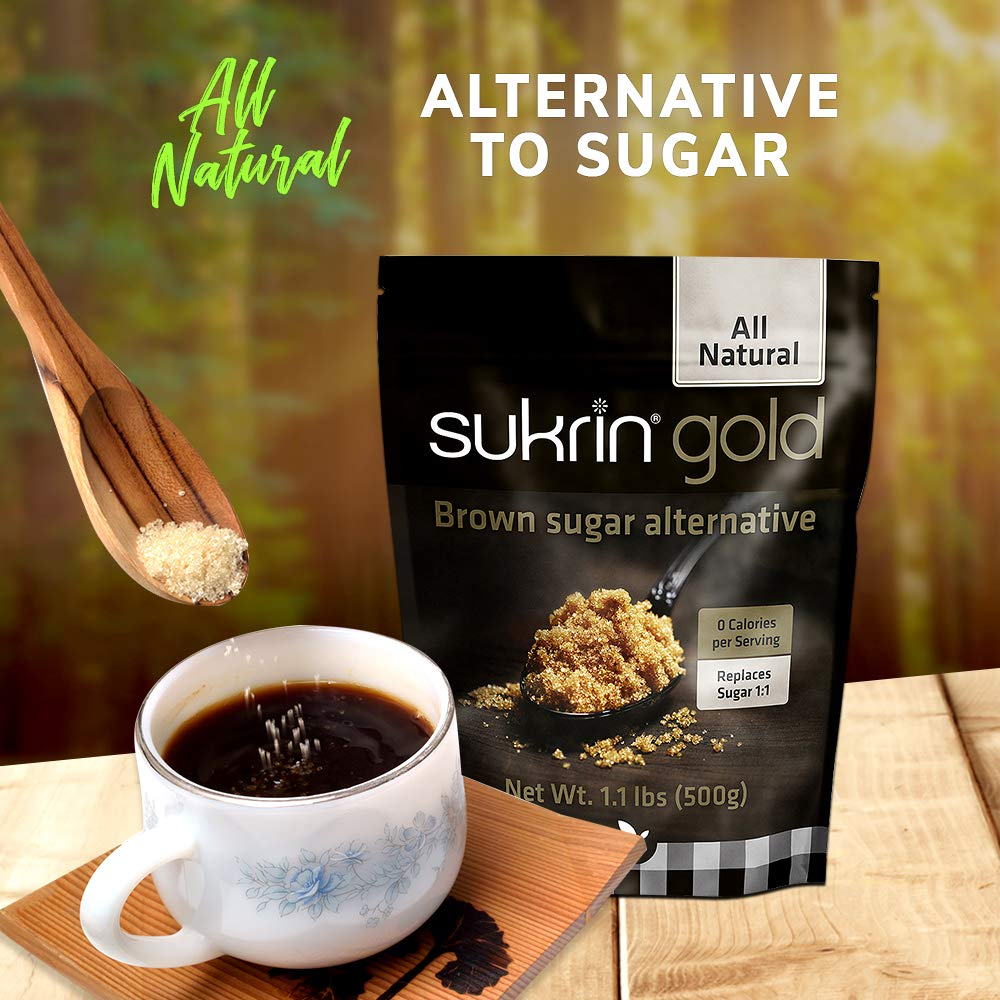 Sukrin Gold - The Natural Brown Sugar Alternative - 1.1 lb Bag by Sukrin (Image #5)