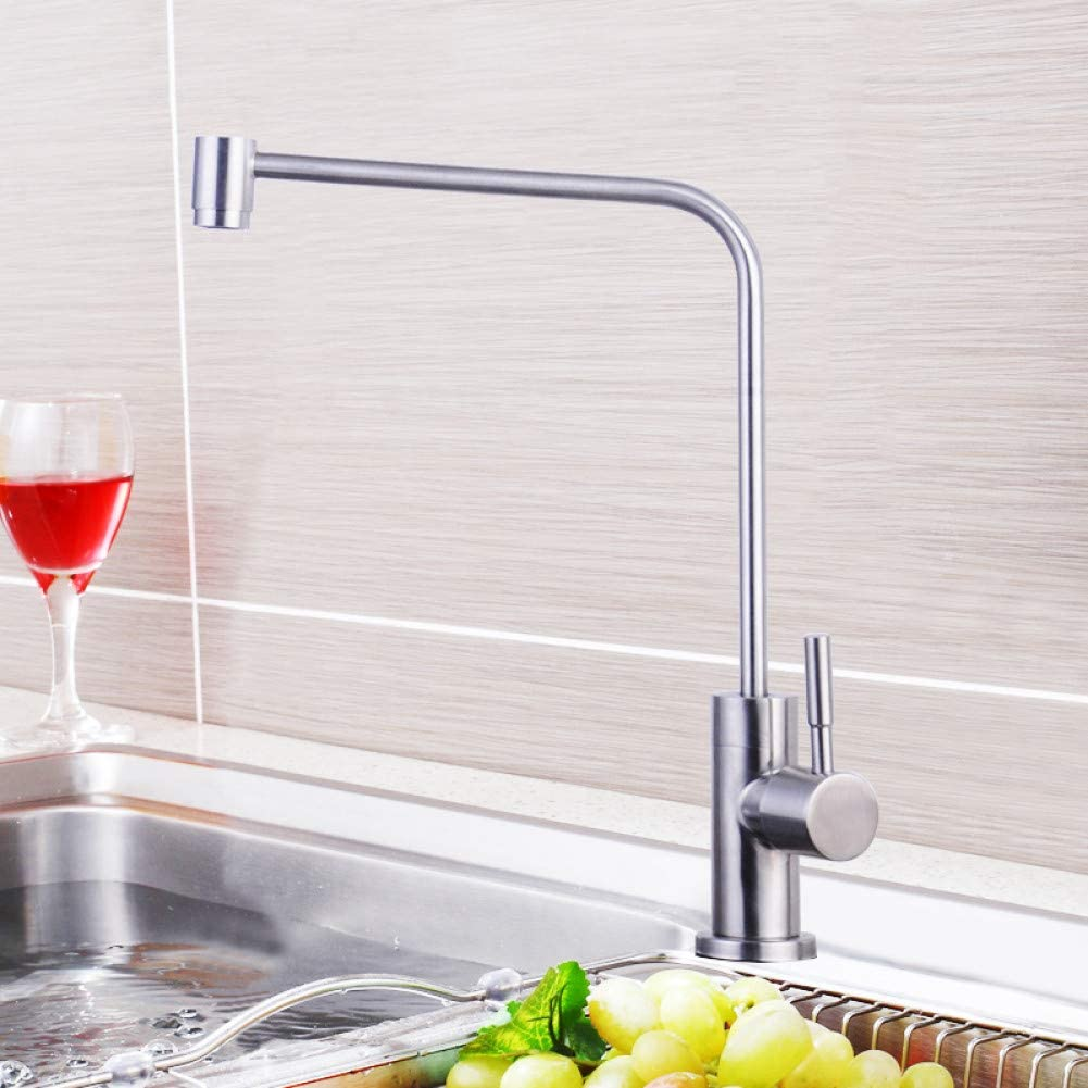 OEWFM Grifo Cocina Grifo de filtro de agua pura Acero inoxidable ...