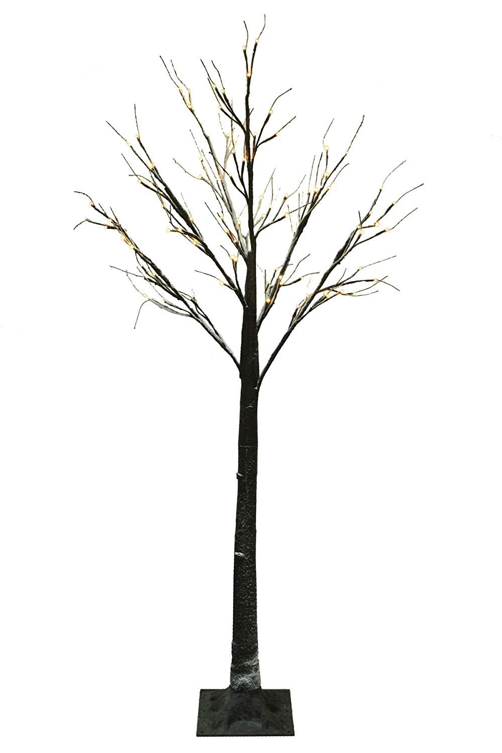 Jaymark Products Snowy Effect Brown Christmas Twig Tree (7ft/210cm Cool White LED)