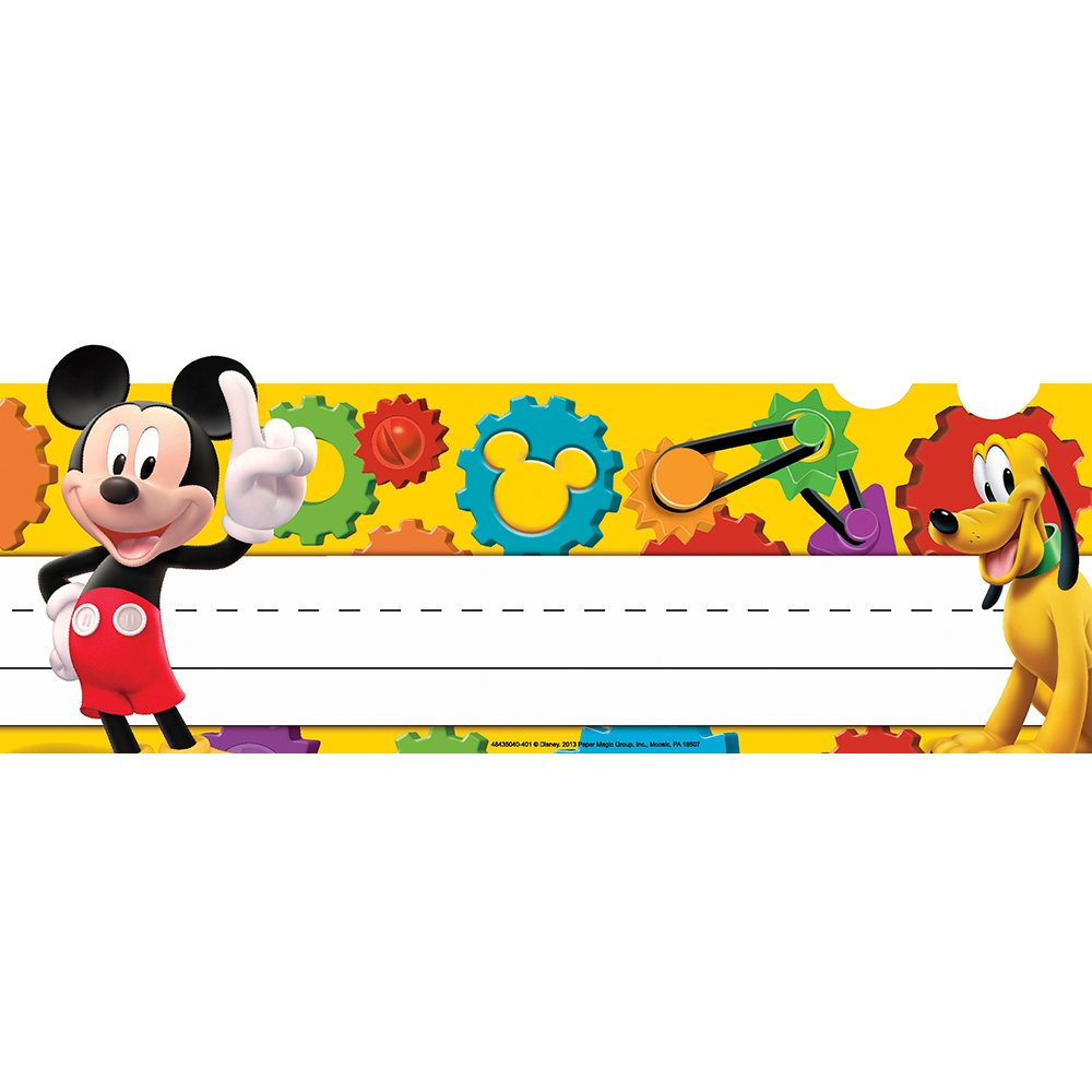 Eureka Back to School DisneyMickey Mouse Classroom Student Name Plates for Teachers, 36pc, 9 5/8'' W X 6 1/2'' H