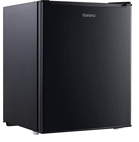 Galanz 2.7 Cu. Mini refrigerador/congelador de pies, color negro ...