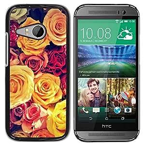 "Pulsar Snap-on Series Teléfono Carcasa Funda Case Caso para HTC ONE MINI 2 / M8 MINI , Viñeta amarillo Bouquet Spring Love"""
