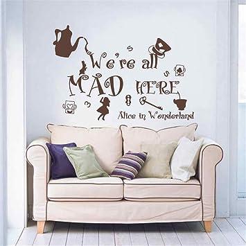 Amazon.com: Adhesivo decorativo para pared, diseño de Alicia ...