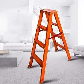 AOLI Escalera Taburete Escalera Taburete Escalera doble de aleación de aluminio Escalera plegable para el hogar Escalera de cuatro escalones Escalera interior Escalera plegable,A: Amazon.es: Bricolaje y herramientas