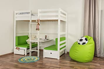 Etagenbett Umbaubar In 2 Einzelbetten : Hochbett mit bettkasten tim umbaubar zu einem tisch bänken oder