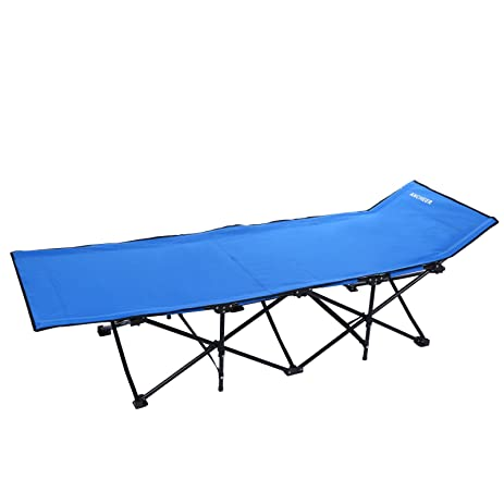 wakrays portable folding camping bed beach hammock sleeping cot steel single  blue  amazon    wakrays portable folding camping bed beach hammock      rh   amazon