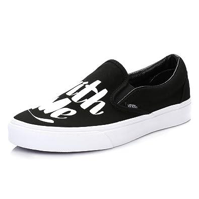 Schwarzweiß Vans Baron Classic On Fancy Von Slip SneakersAmazon W29EDHIY
