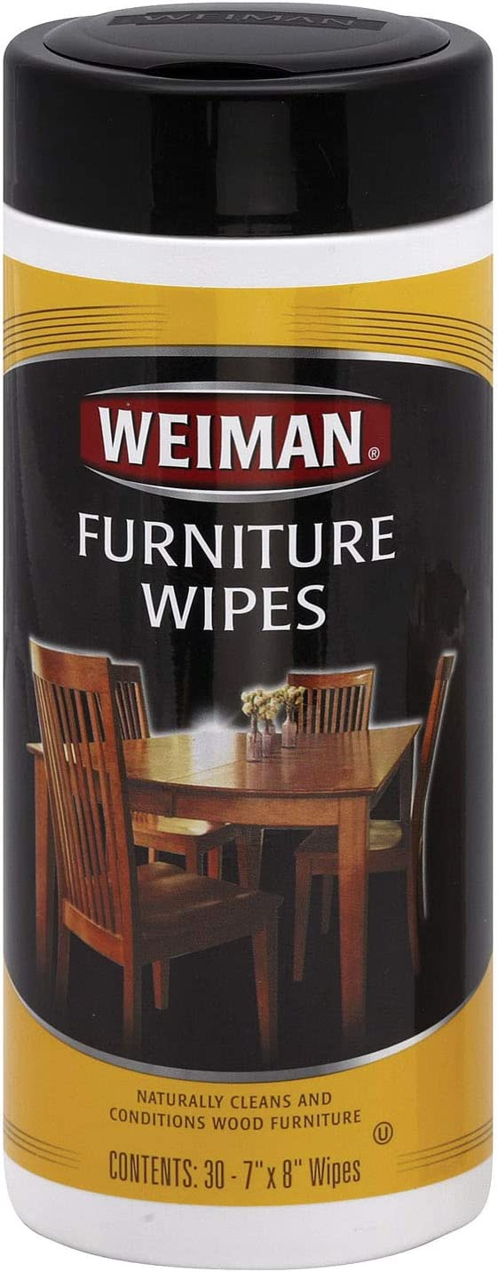 Weiman Lemon Scent Wood Cleaner and Polish 30 pk Wipes