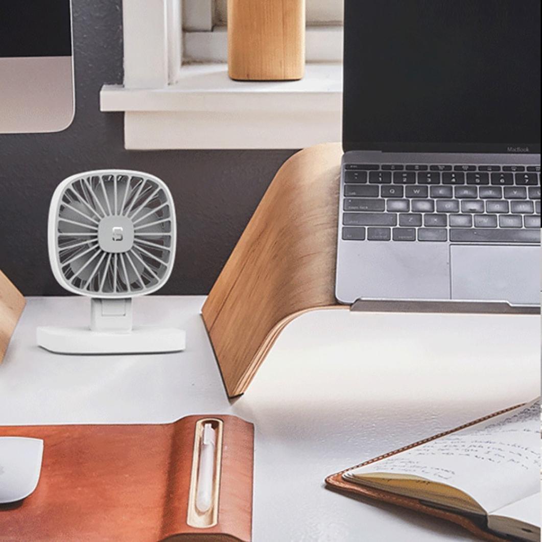 Hunpta@ Mini Fan, USB 12V Portable Car Air Conditioning Cooler Desktop Mini Fan (White)