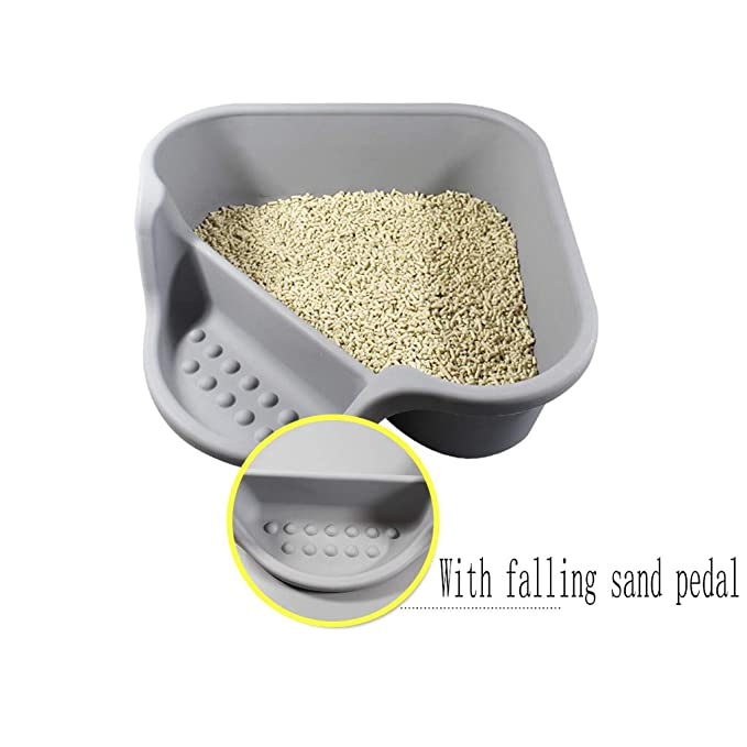 Jlxl Gato Bandeja Cat Toilet Camada Maceta Pala Baño Perro Triángulo para Caja Gris Abierto Resina Ambientalmente Tóxico Materiales: Amazon.es: Productos ...
