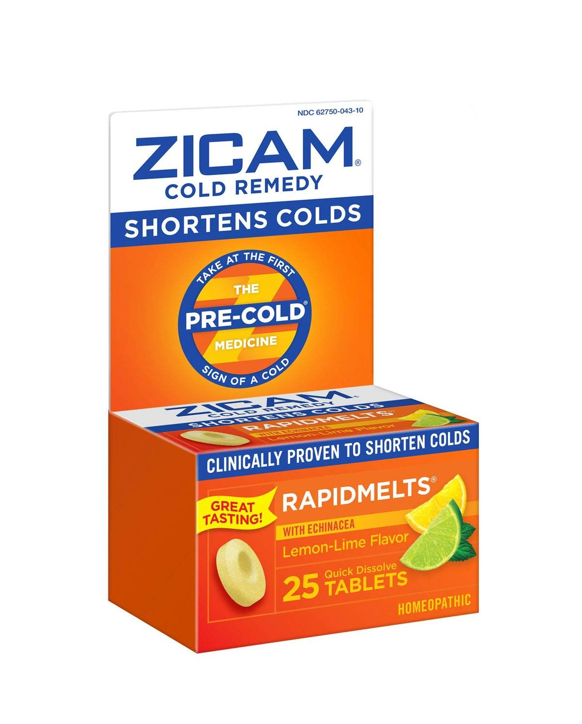 Zicam Cold Remedy Rapidmelts, Lemon-Lime with Echinacea, 25 Count (Pack of 1)