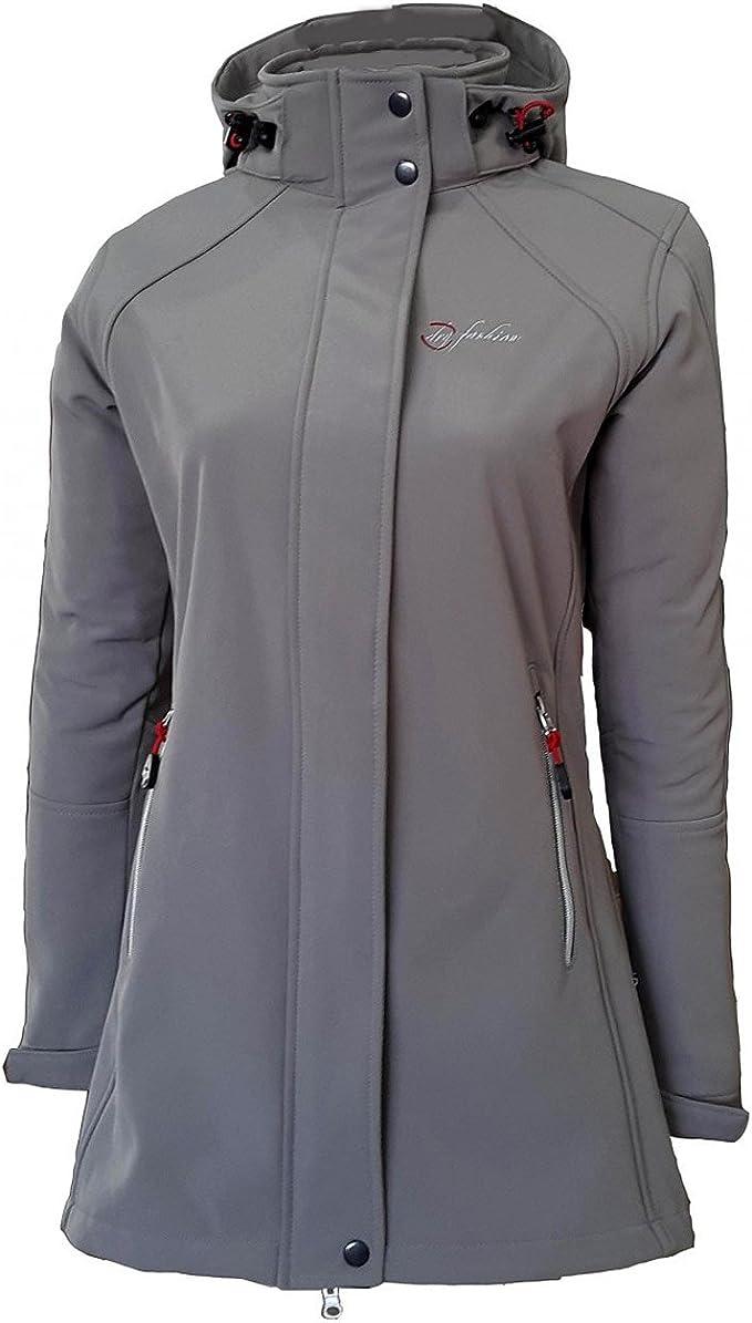 Dry Fashion Damen Softshell Mantel Sylt Tailliert Regenmantel Regenjacke