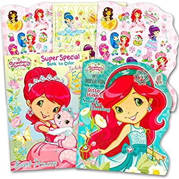 strawberry shortcake coloring book super set 2 jumbo coloring books with over 100 stickers - Strawberry Shortcake Coloring Book