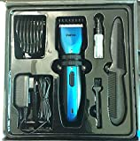 Paiter G998 electric hair trimmer electric Hair clipper clip Barber scissors Kids Professional cutting trimmer machine cut hair (Blue)