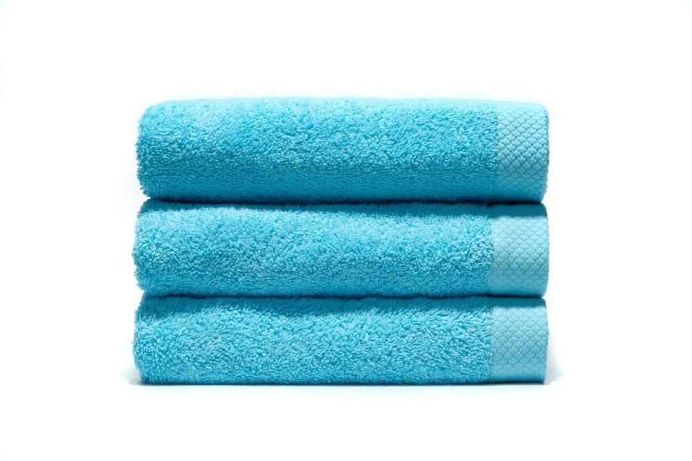 Home Basic - Juego de 3 toallas para tocador, 33 x 50 cm, lavabo, 50 x 100 cm y ducha, 70 x 140 cm, color océano: Amazon.es: Hogar