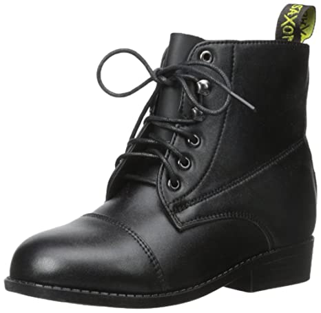 Saxon Women's Equileather Lace Boot Black 5.5 US