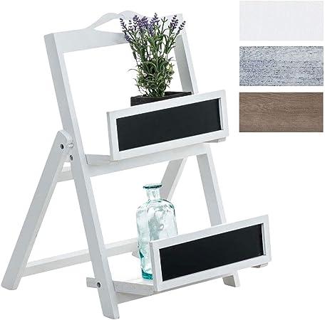 Estantería Escalera Linus | Estantería Decorativa Plegable I Estantería de Madera con 2 Estantes I Color:, Color:Blanco: Amazon.es: Hogar