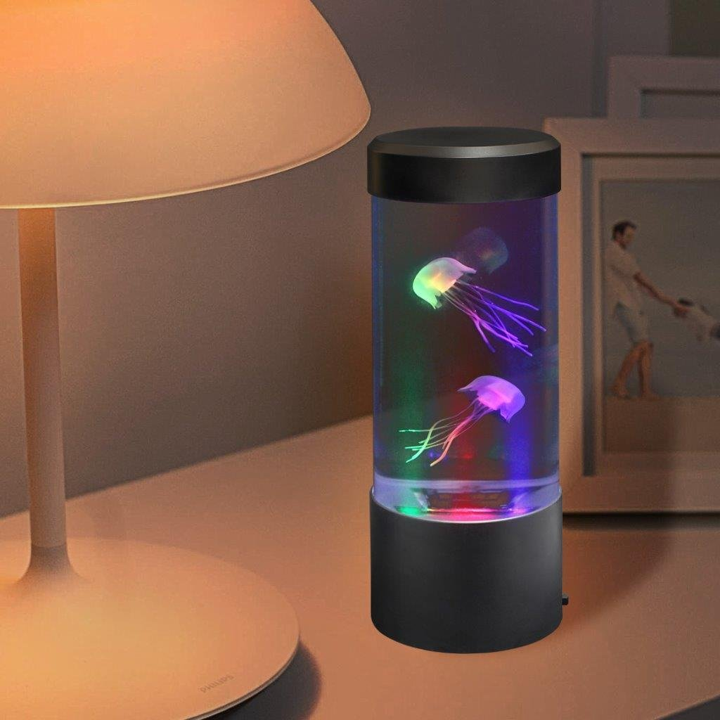 Lightahead LED Mini Desktop Jellyfish Lamp with Color Changing Light Effects Jelly Fish Tank Aquarium Mood Lamp by Lightahead (Image #3)