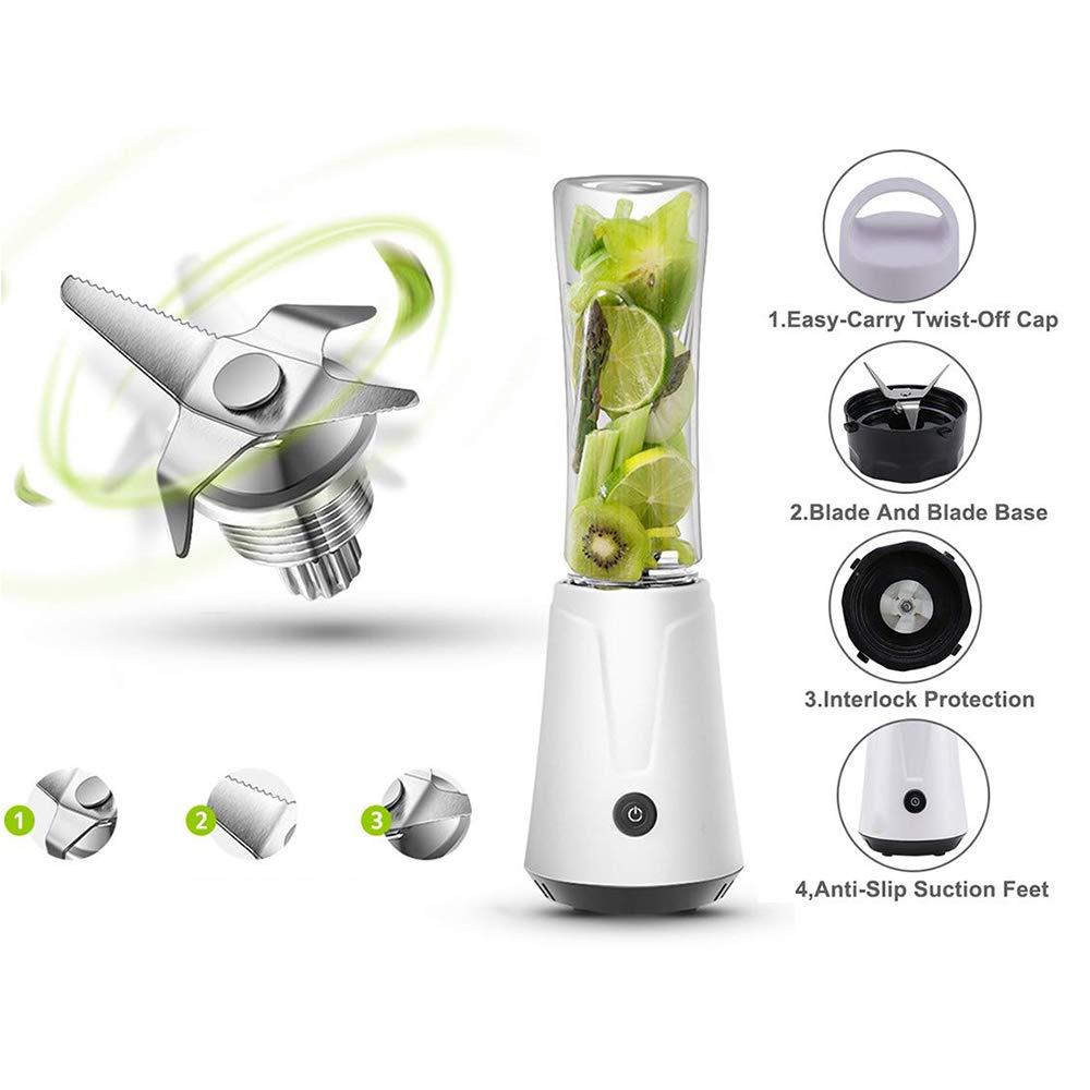 DOSNVG Centrífuga Licuadora, USB Recargable con Cuchillas de Acero ...