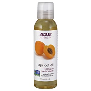 NOW Solutions, Apricot Kernel Oil, Hair Moisturizer, Rejuventaing Skin Oil, Softens Fine Lines, 4-Ounce