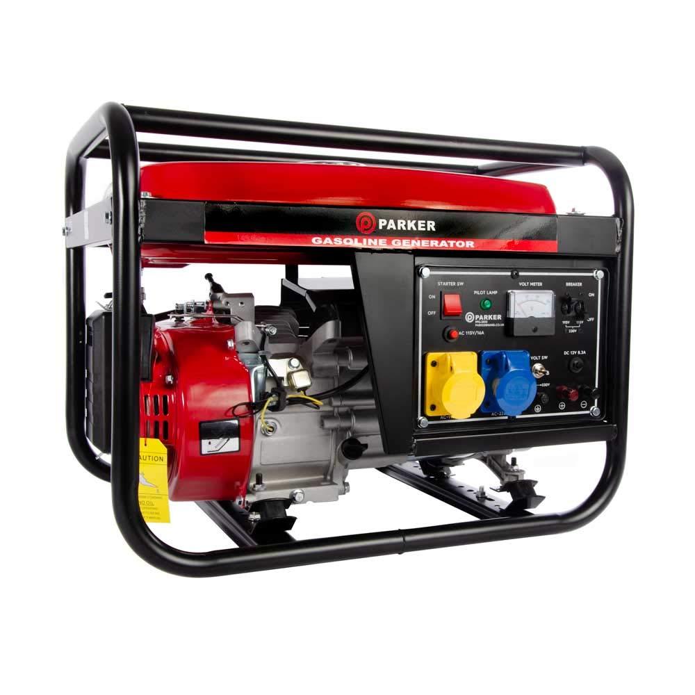 2 8 KVA / 2 8KW 6 5HP DC Petrol Generator - 110V / 240V / 12V / 50HZ